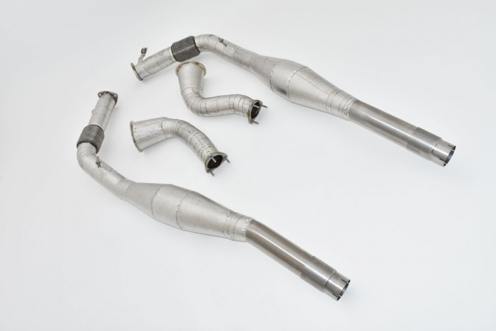 2x114,3>>>2x76mm downpipe with 200 cells HJS catalyst
