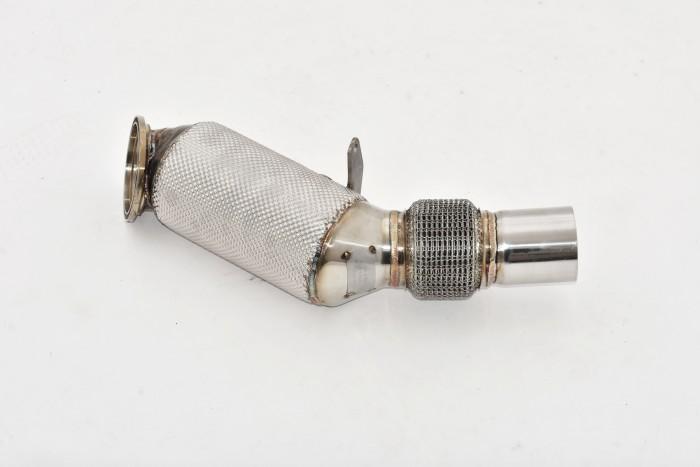 90>>>76mm Downpipe mit 200 Zellen HJS Sport-Kat. Edelstahl