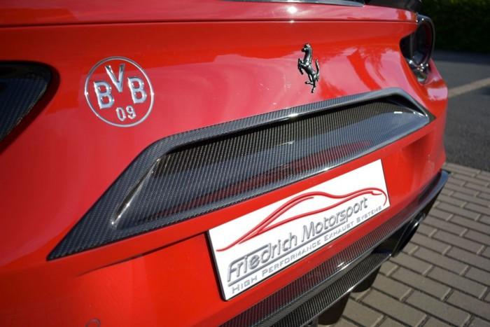 Friedrich Motorsport Luftauslass Heck Mitte in Sichtcarbon